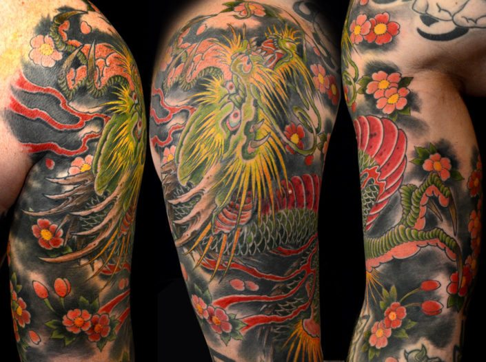 Dragons Japanese Tattoo