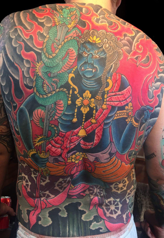 Backpiece Japanese Mythology Tattoo