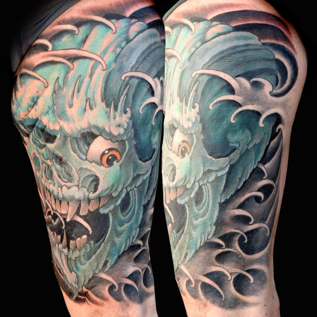 Japanese Skull Tattoo