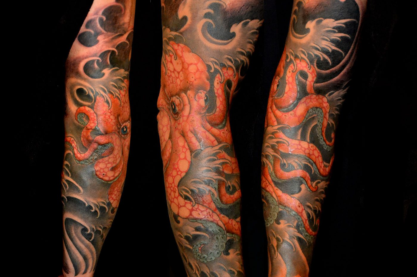 Animals Arm Japanese Tattoo