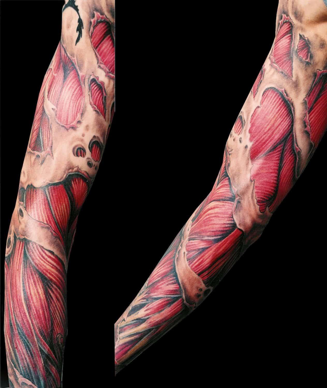 Realistic/Realism Sleeve Tattoo