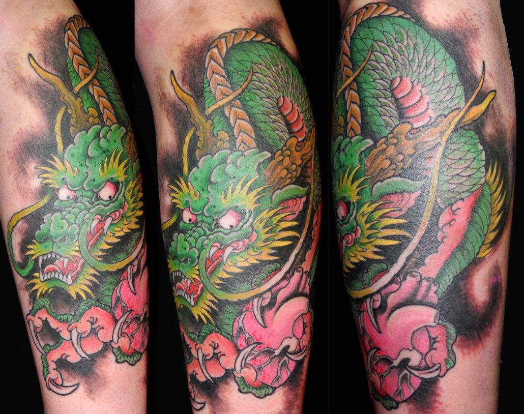 Dragons Japanese Tattoo