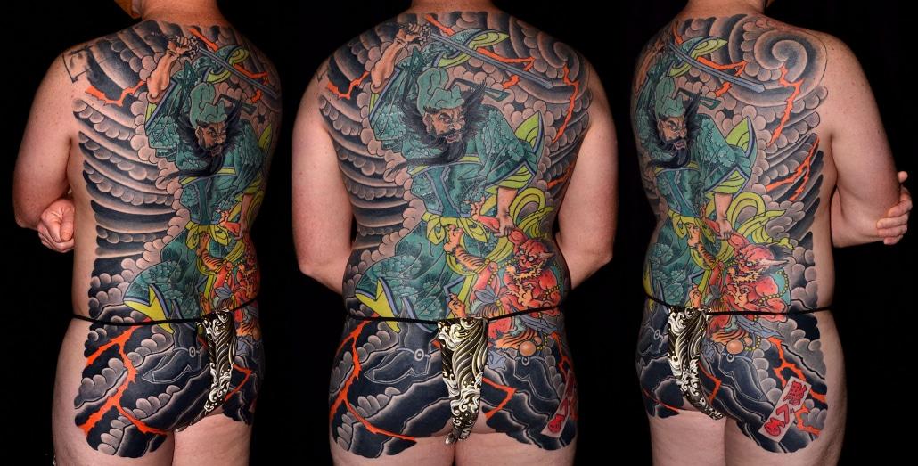 Back Backpiece Hannya/Oni Japanese Mythology Tattoo