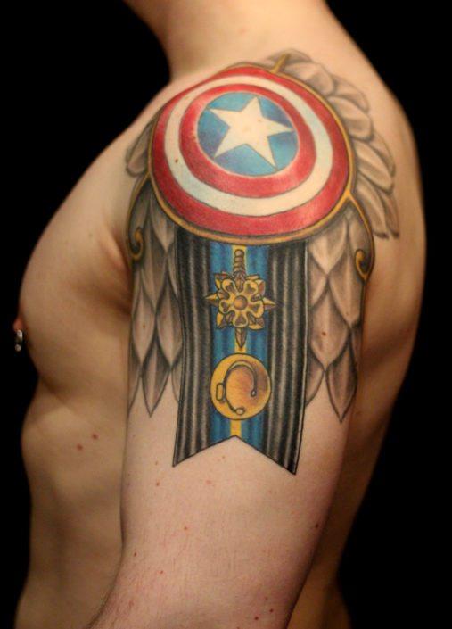 Patriotic Shoulder Tattoo