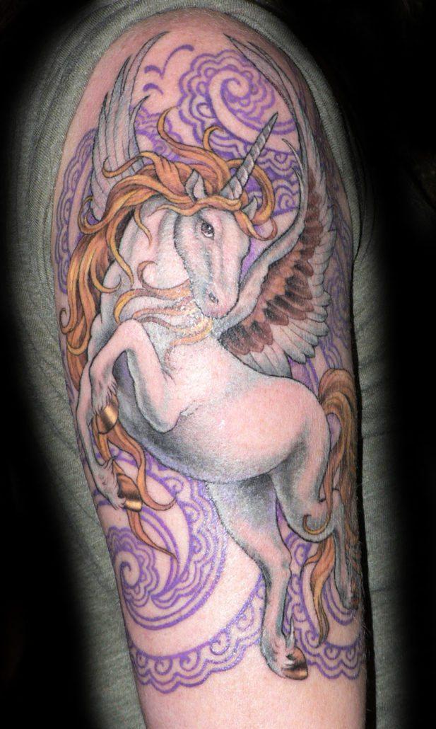 Animals Arm Unicorn Tattoo