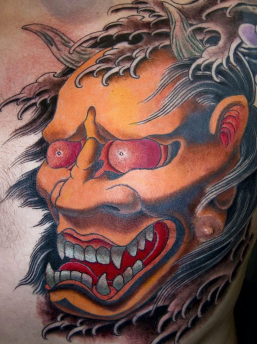 Chest Hannya/Oni Japanese Tattoo