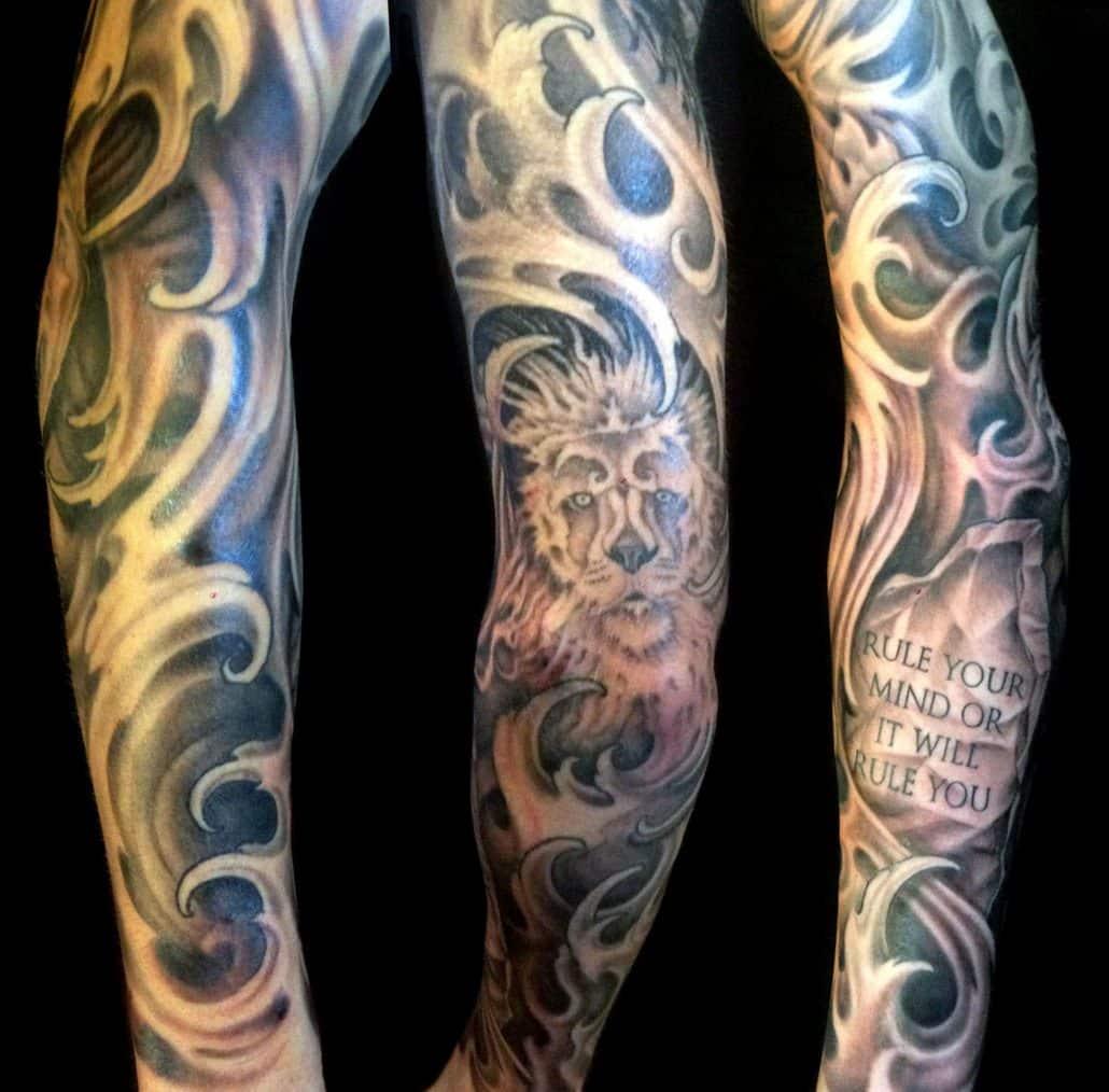 Black & Grey Sleeve Tattoo