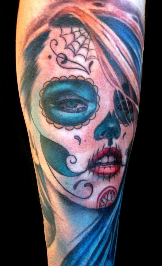 Catrina/Day of the Dead Portraits Realistic/Realism Woman Tattoo
