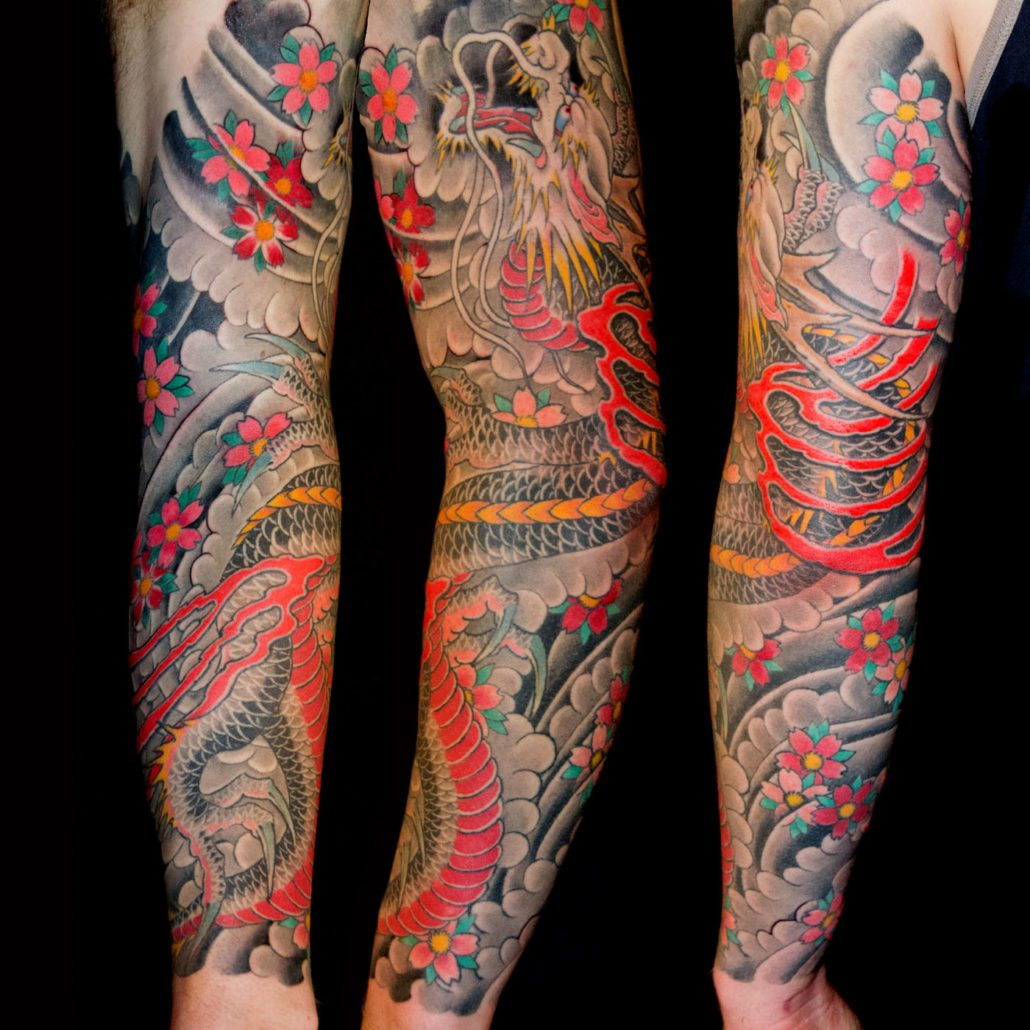 Dragons Sleeve Tattoo