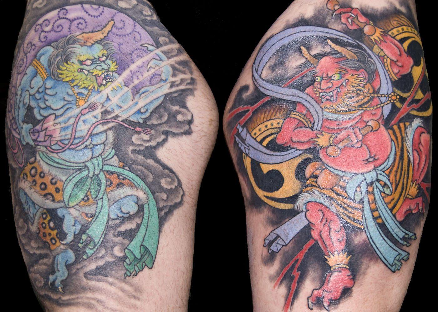 Japanese Leg Mythology Tattoo