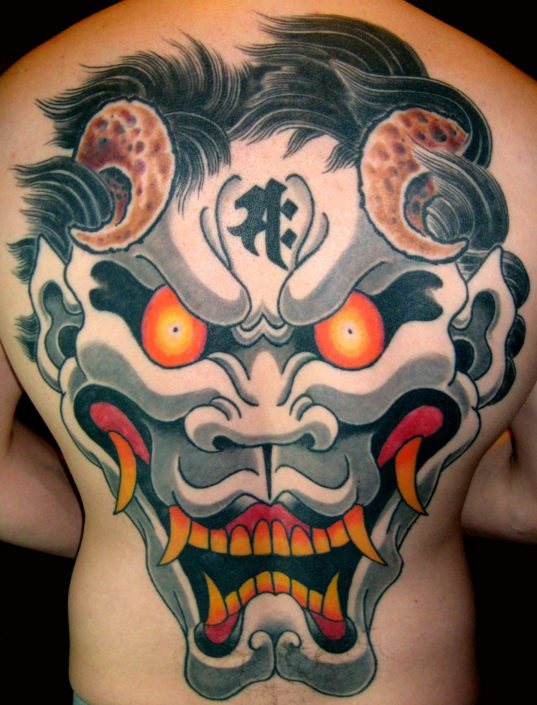 Backpiece Hannya/Oni Tattoo