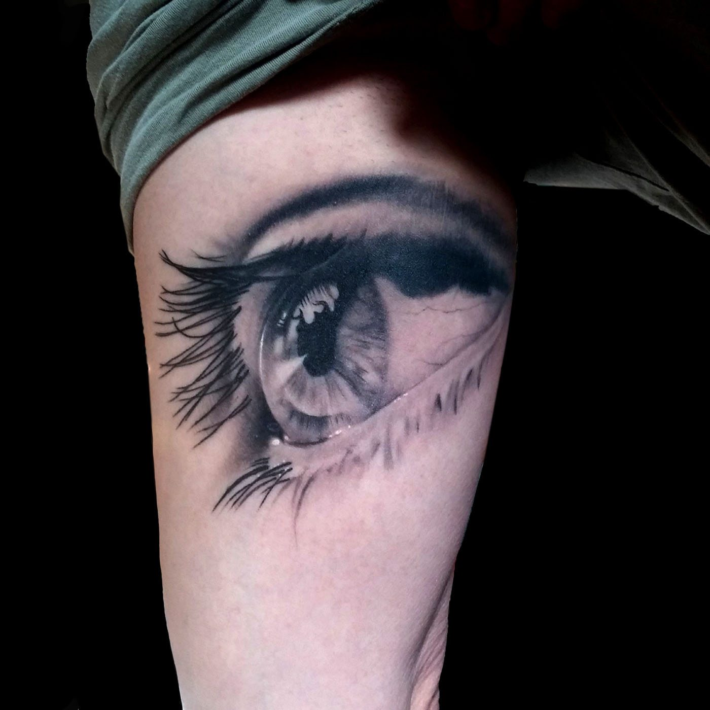 Black & Grey Realistic/Realism Tattoo - Slave to the Needle