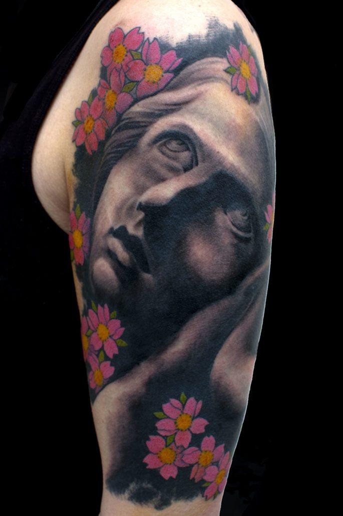 Realistic/Realism Religious/Spiritual Woman Tattoo