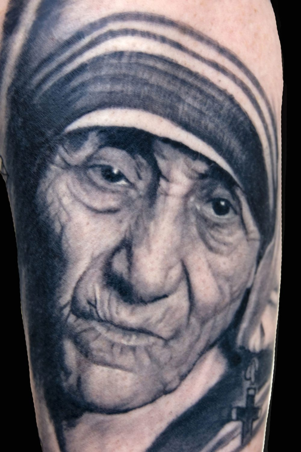 Portraits realistic realism religious spiritual tattoo for Best tattoo artists in seattle