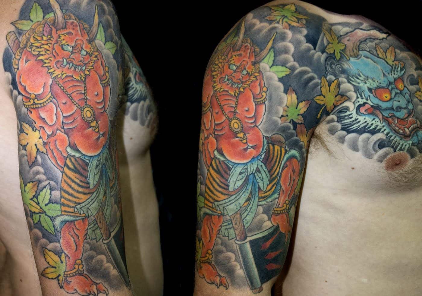 Arm Chest Hannya/Oni Japanese Tattoo
