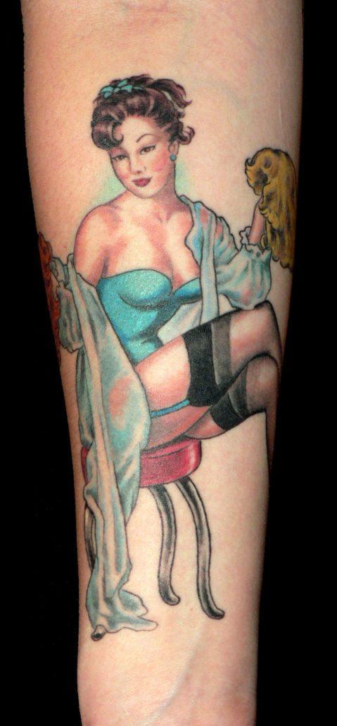 Realistic/Realism Woman Tattoo
