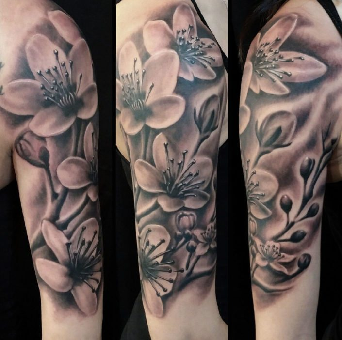 Realistic Flower Tattoos On The Right Forearm Tattoo: Slave To The Needle