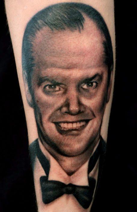 Black & Grey Dark/Horror Portraits Realistic/Realism Tattoo