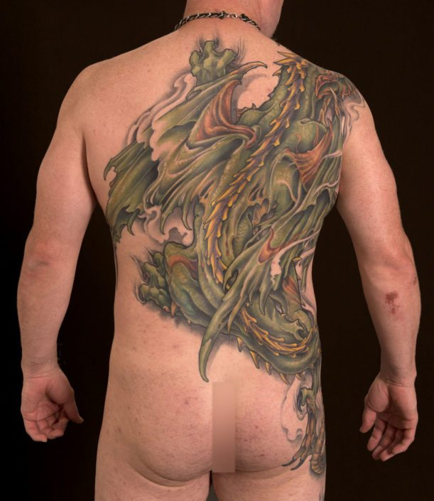 Backpiece Dragons Tattoo