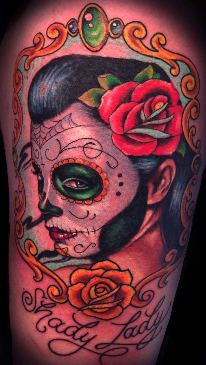 Catrinaday Of The Dead Woman Tattoo Slave To The Needle