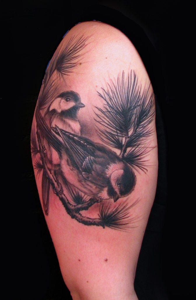 Birds Black & Grey Realistic/Realism Tattoo