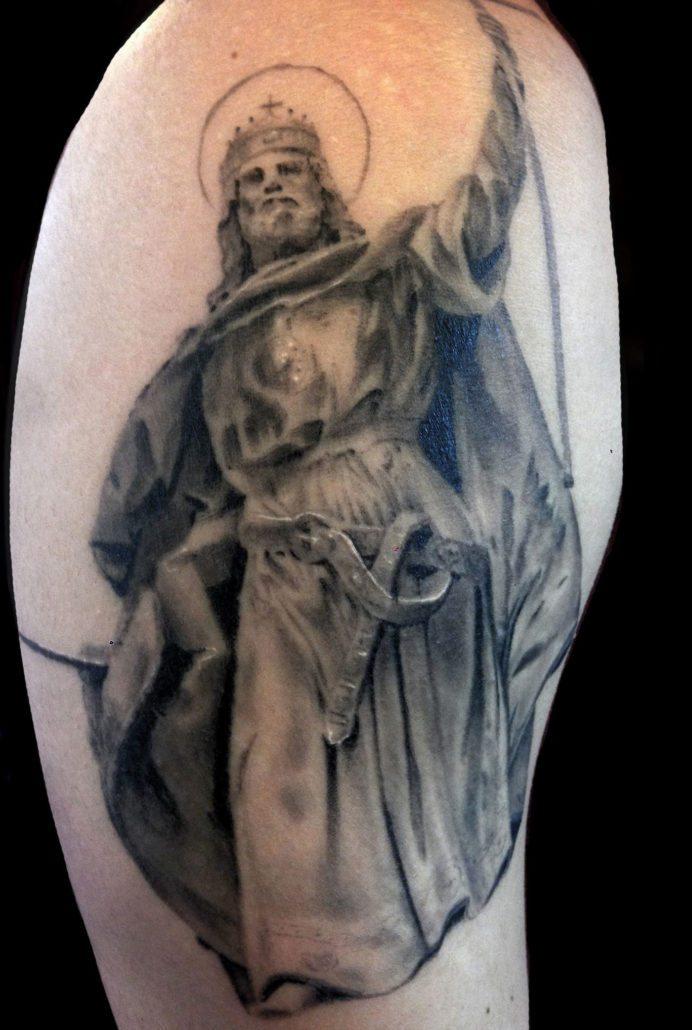 Black & Grey Realistic/Realism Religious/Spiritual Tattoo