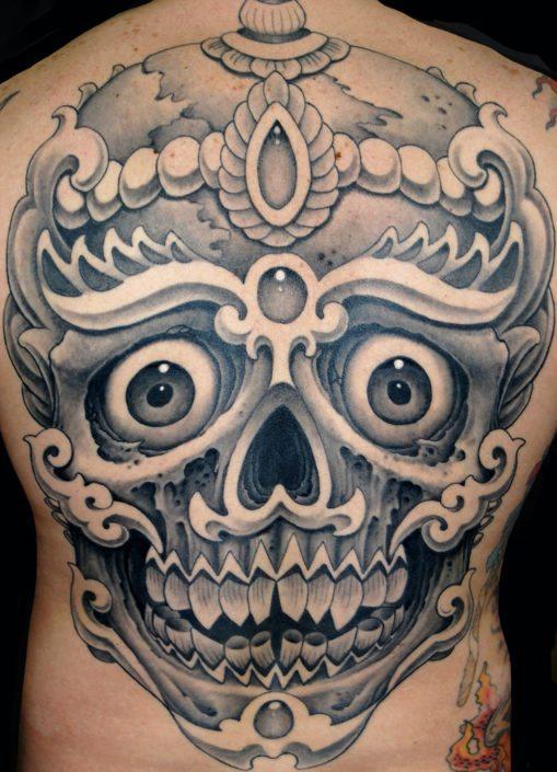 Religious/Spiritual Skull Tattoo