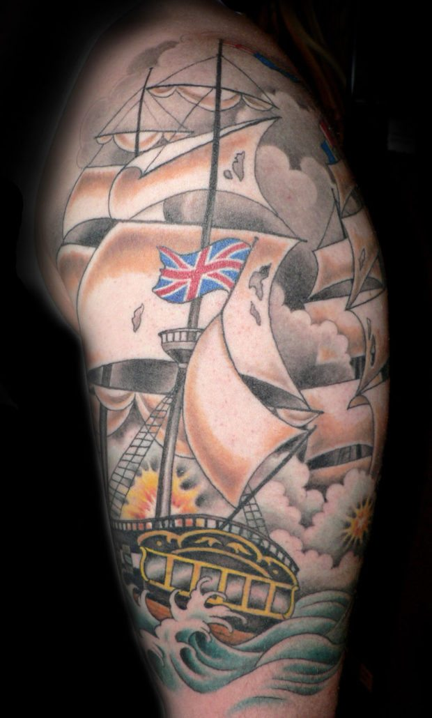 Arm Nautical Neo-Traditional Tattoo