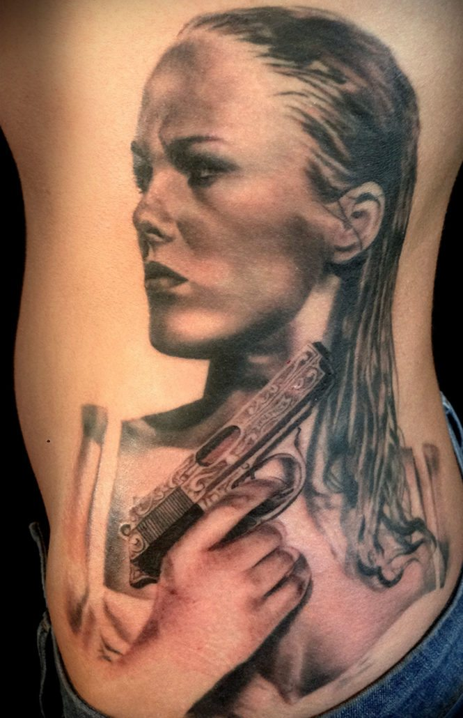 Black & Grey Portraits Realistic/Realism Woman Tattoo