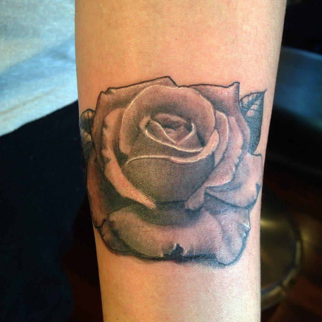 Black & Grey Flowers Realistic/Realism Tattoo