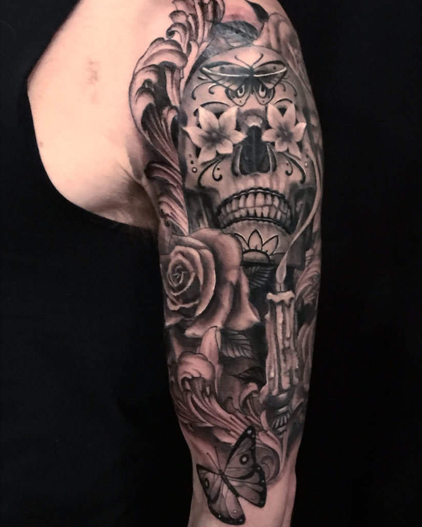Catrina And Rose Tattoo: Slave To The Needle Tattoo Gallery And Artist Examples