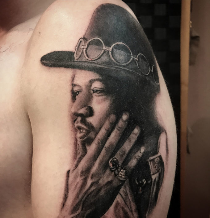 Black & Grey Portraits Tattoo