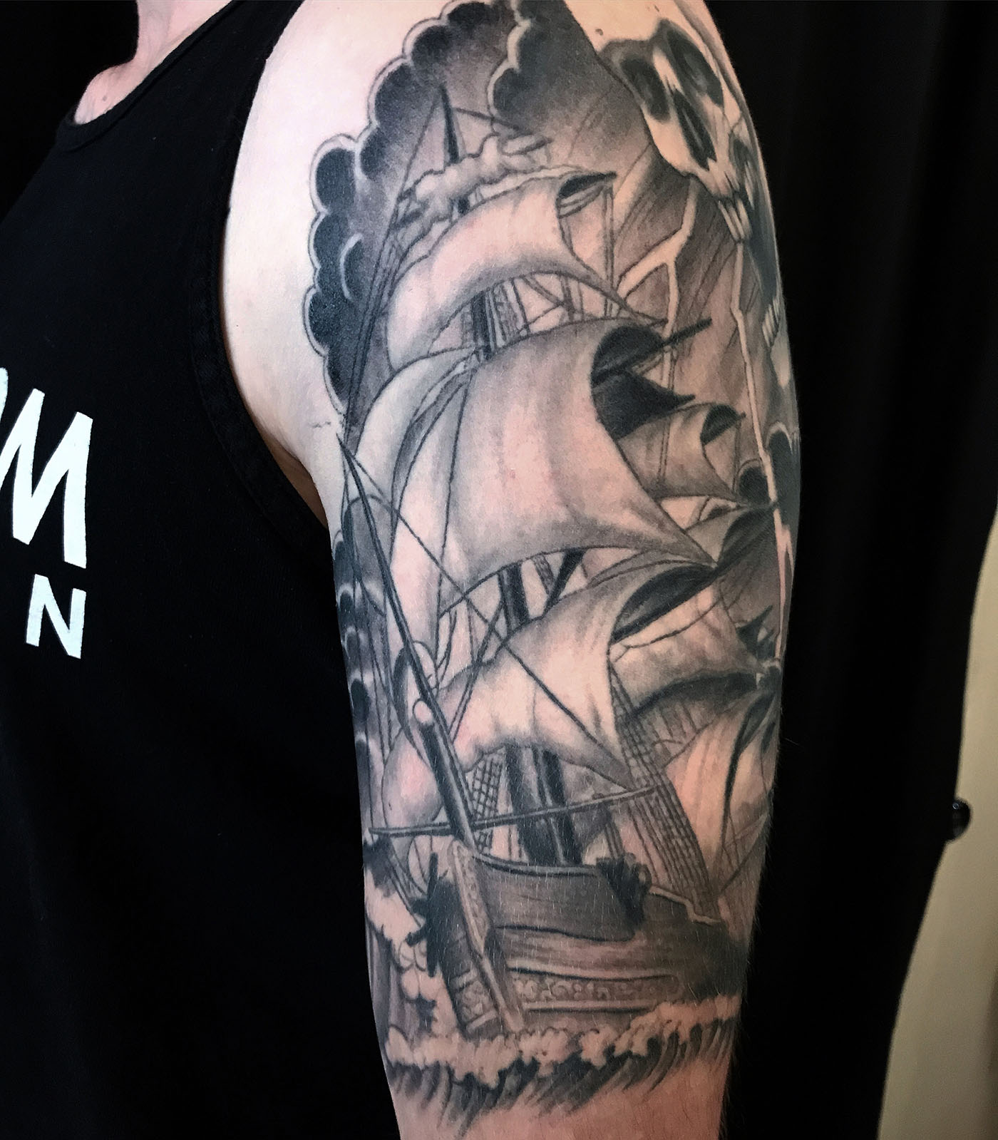 Arm Black Grey Neo Traditional Realisticrealism Traditional