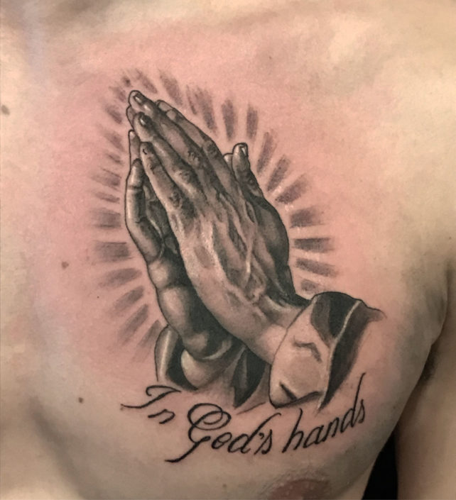 Black & Grey Religious/Spiritual Tattoo
