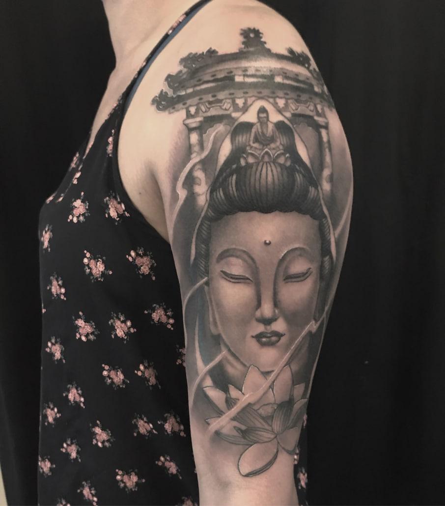 Arm Black & Grey Realistic/Realism Religious/Spiritual Tattoo