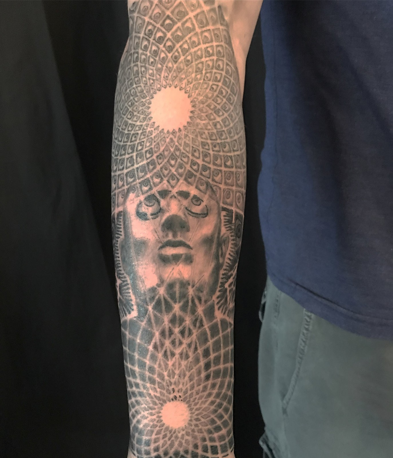 Arm Black Grey Dotwork Geometricmandala Realisticrealism