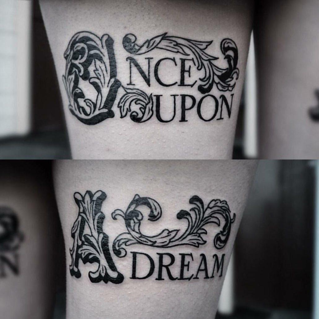 Blackwork Lettering Tattoo