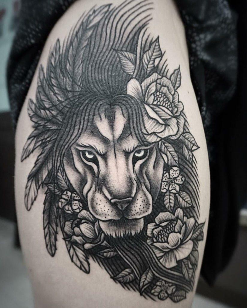 Animals Lion Tattoo