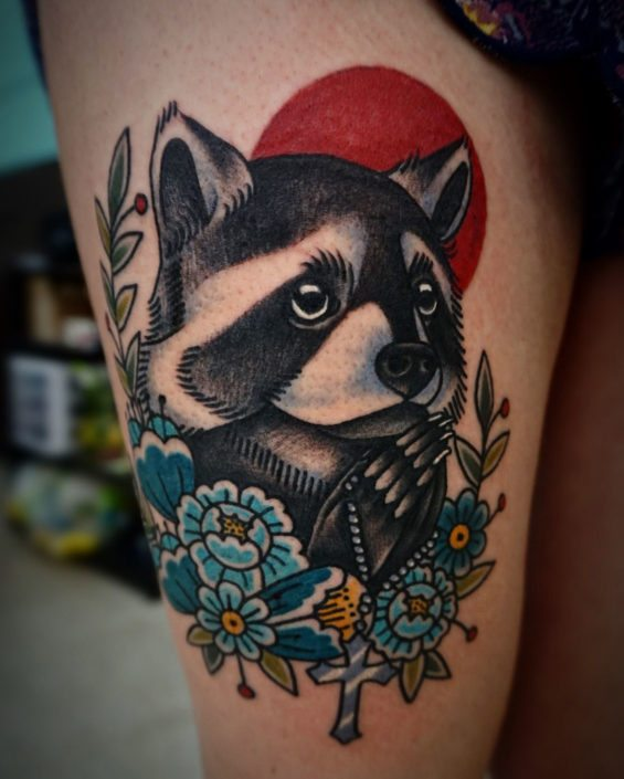 Animals Flowers Tattoo