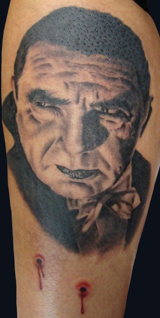 Black & Grey Dark/Horror Portraits Realistic/Realism Tattoo
