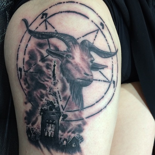 Black & Grey Dark/Horror Realistic/Realism Tattoo