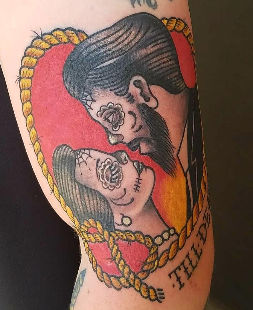 Neo traditional traditional americana tattoo slave to for Traditional americana tattoos