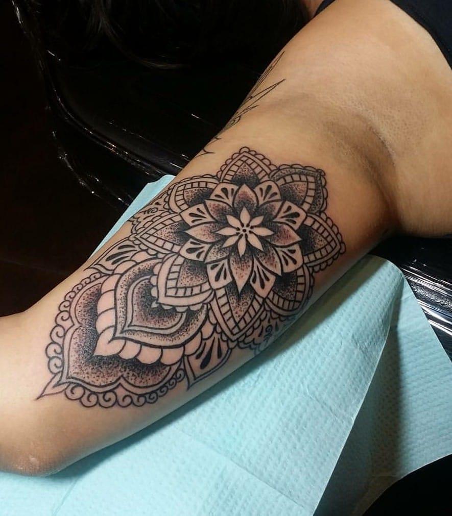 Black & Grey Blackwork Tattoo