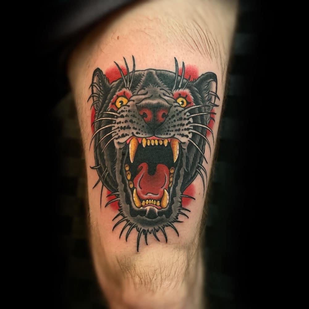 Animals Leg Traditional/Americana Tattoo