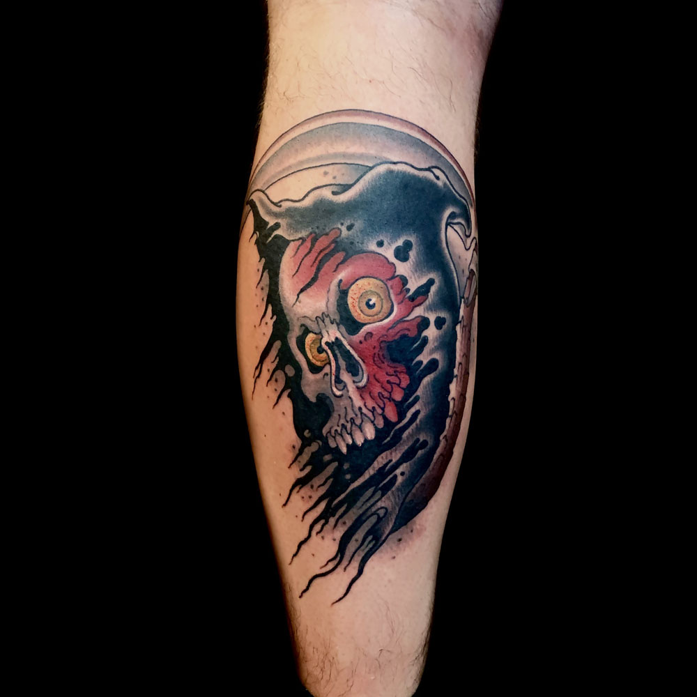 Dark/Horror Leg Neo-Traditional Reaper Traditional/Americana Tattoo