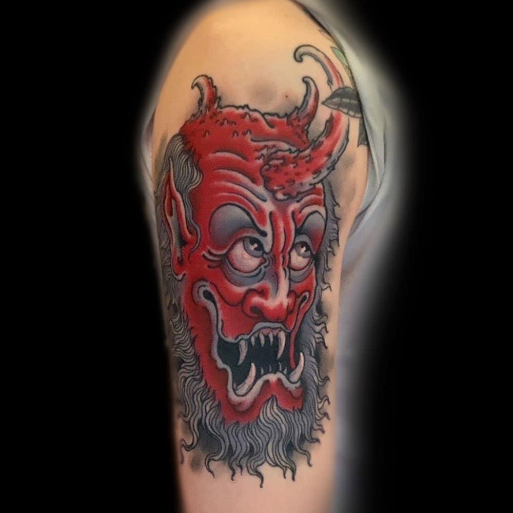 Arm Dark/Horror Neo-Traditional Traditional/Americana Tattoo
