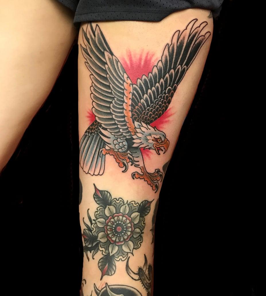 Birds Hawks/Eagles Traditional/Americana Tattoo