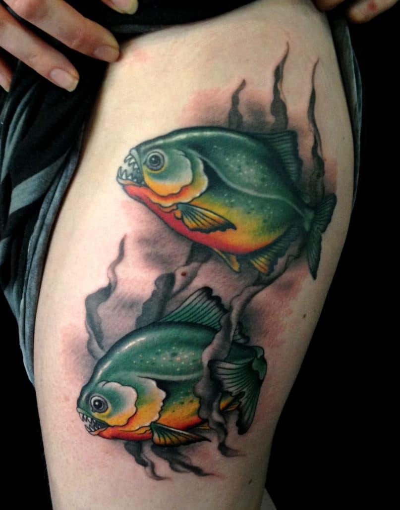 Animals Leg Tattoo