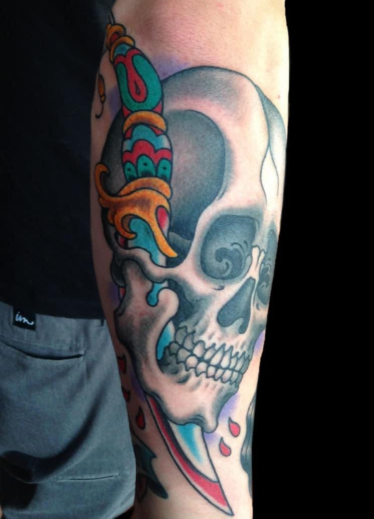 Skull Traditional/Americana Tattoo
