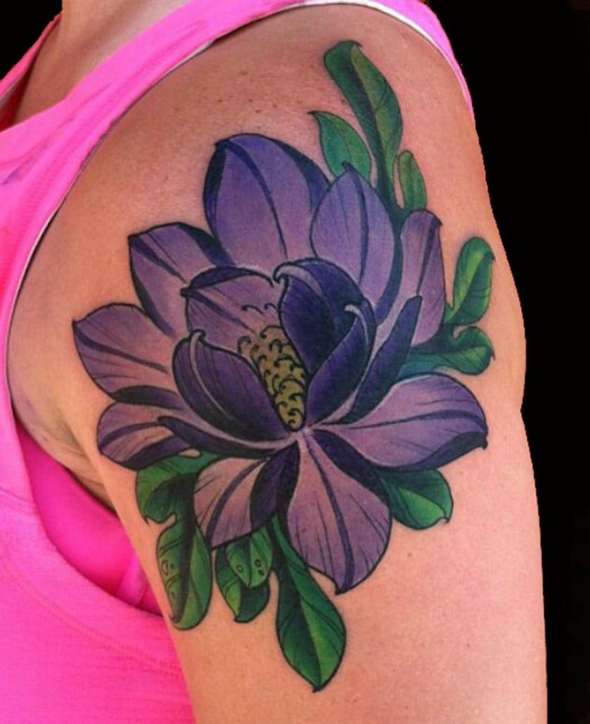 Arm Flowers Japanese Tattoo